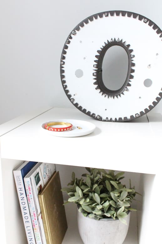 DIY Ikea Hack Side Table- Under $40 - Top Houston Lifestyle Blogger Ashley Rose of Sugar & Cloth #ikea #hack #diy #ikeahack #sidetable #homedecor #diydecor #inexpensive #simple