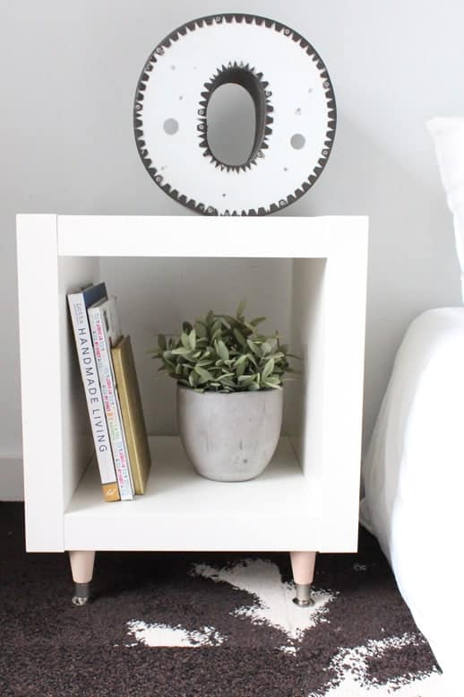 DIY Ikea Hack Side Table- Under $40 - Top Houston Lifestyle Blogger Ashley Rose #ikea #hack #diy #ikeahack #sidetable #homedecor #diydecor #inexpensive