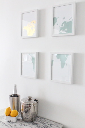 DIY gold leaf artwork and map giveaway