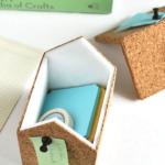 DIY Cork Storage Boxes