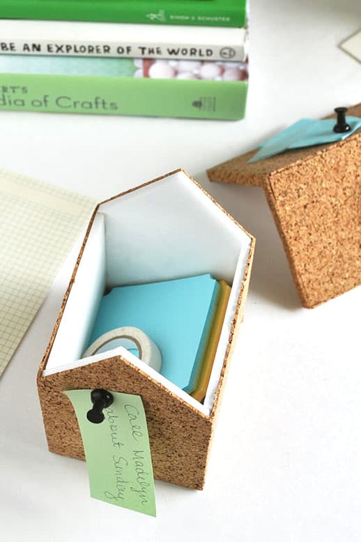 DIY Cork Storage Boxes - Sugar & Cloth - Home Decor - Houston Blogger