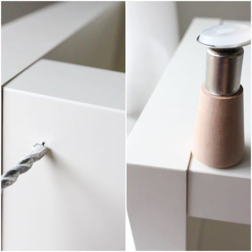 Step 1 - DIY Ikea Hack Side Table- Under $40 - Top Houston Lifestyle Blogger Ashley Rose of Sugar & Cloth #ikea #hack #diy #ikeahack #sidetable #homedecor #diydecor #inexpensive #simple