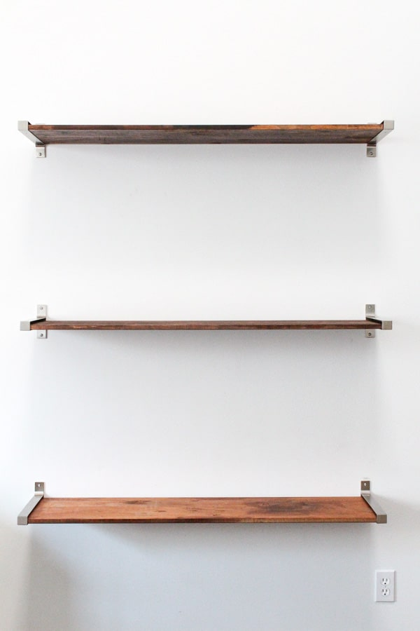 DIY // Ikea Hack Distressed Wooden Shelves