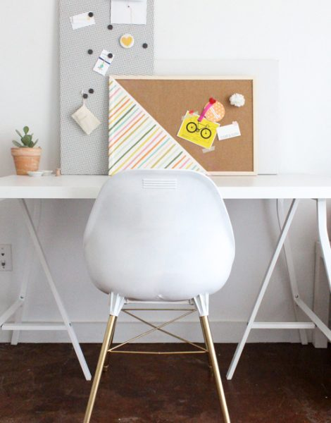 DIY patterned magnetic board by Sugar & Cloth