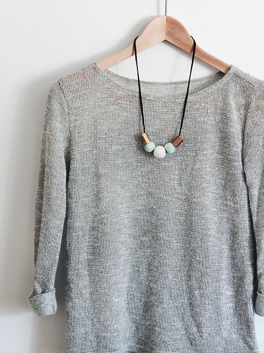 DIY statement necklace by contributor Molly