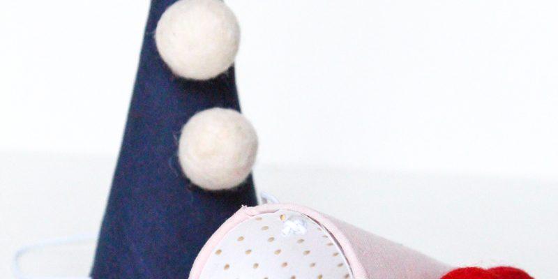 DIY mini party hats for Bleubird by Sugar & Cloth