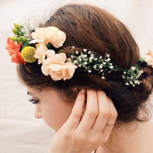 DIY Floral Headpieces - sugar and cloth