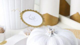 Simple DIY Pumpkin Place Card Holders