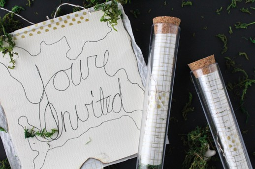 DIY test tube party invitations - Sugar & Cloth - Houston Blogger - Gift