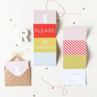 DIY printable accordion gift tag - sugar and cloth