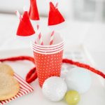 DIY One Minute Santa Hat Drink Stirrers