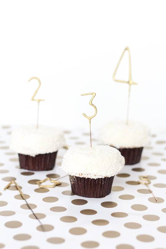 DIY countdown cupcakes - Sugar & Cloth - DIY