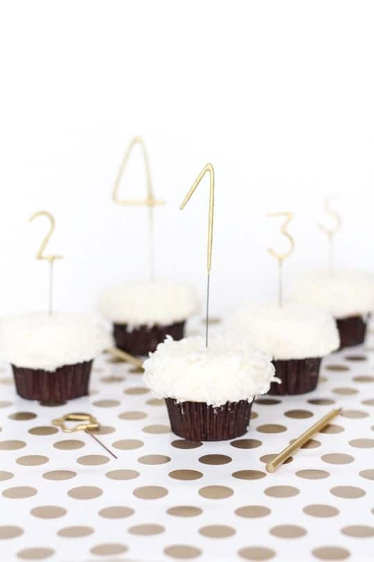 DIY Countdown cupcakes - sugar and cloth