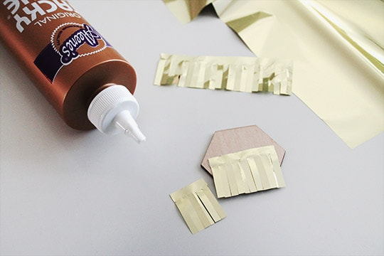 DIY: Gold Fringe Drink Toppers - Sugar & Cloth - DIY