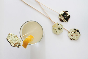 DIY fringe drink toppers and a french 75 recipe!