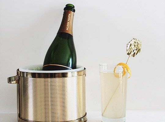 DIY: Gold Fringe Drink Toppers & A French 75 - sugar and cloth