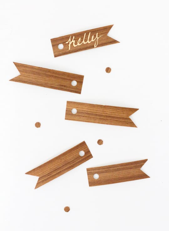 DIY Wood Veneer Confetti and Gift Tags - Sugar & Cloth - DIY - Holidays