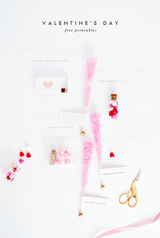 DIY Candied Valentine's Day Printables - Sugar and Cloth
