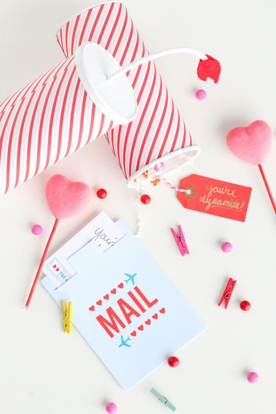 DIY You're Dynamite Valentines - Sugar and Cloth