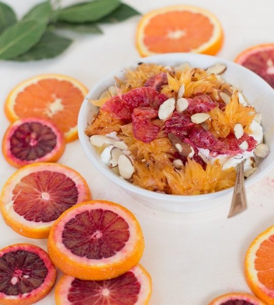Morning Citrus Yogurt Bowl - sugar and cloth