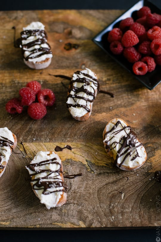 Salted Chocolate & Mascarpone Crostini - Sugar & Cloth - Recipe