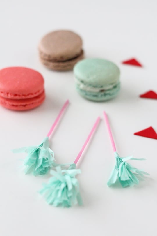 DIY Valentine Arrow Cookie Picks