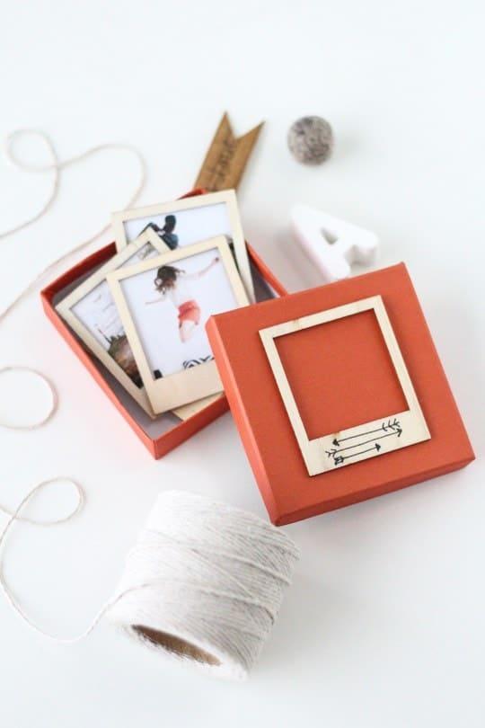 DIY Wooden Polaroid Gift Set - Sugar and Cloth