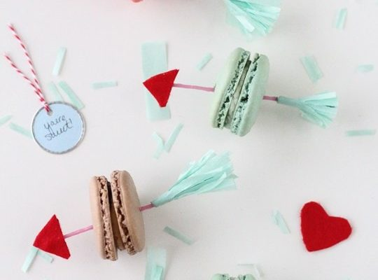 DIY Valentine Arrow Cookie Picks - Sugar and Cloth