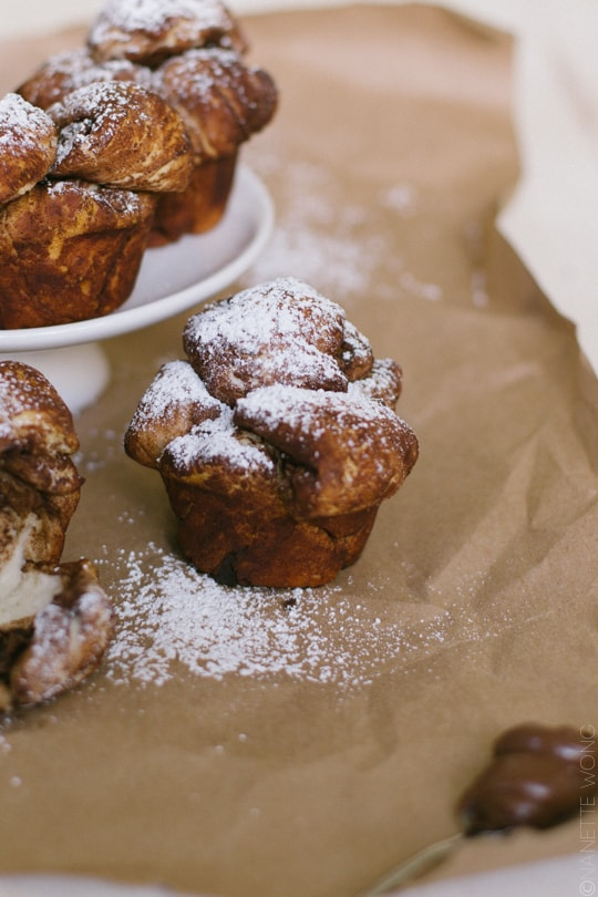 Nutella Stuffed Monkey Bread Muffins - Sugar & Cloth - Recipe