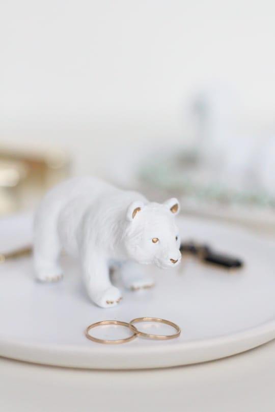 DIY figurine trinket dishes