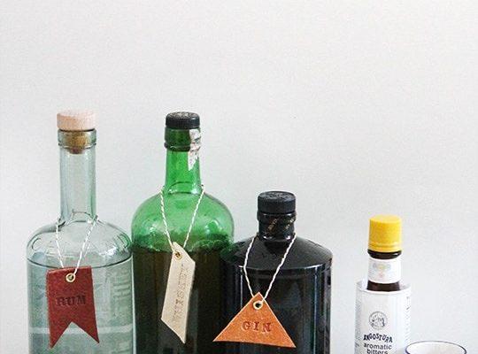 DIY Leather Bar & Drink Tags - Sugar and Cloth