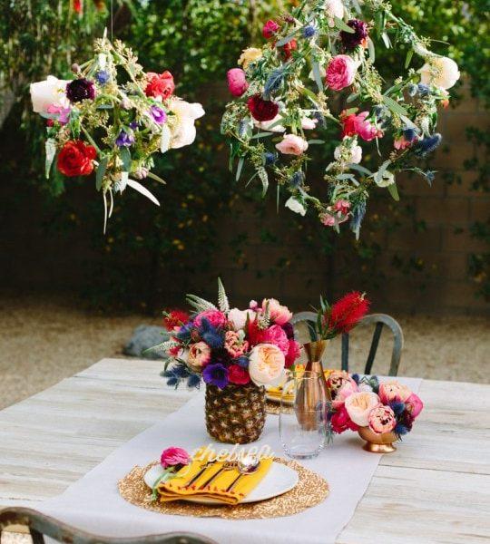 DIY Geometric Floral Pendants - Sugar and Cloth