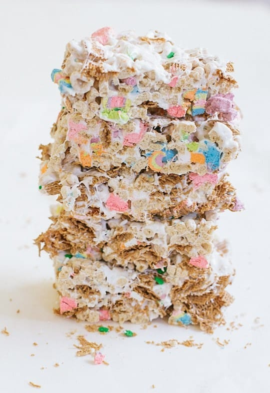 No Bake St. Patrick's Day Cereal Bars - Sugar and Cloth