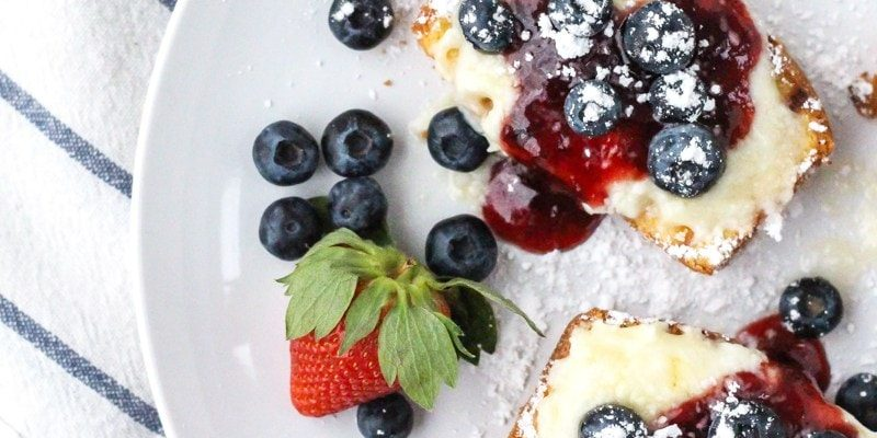 Grilled Pound Cake with Sweetened Mascarpone & Berries - sugar and cloth
