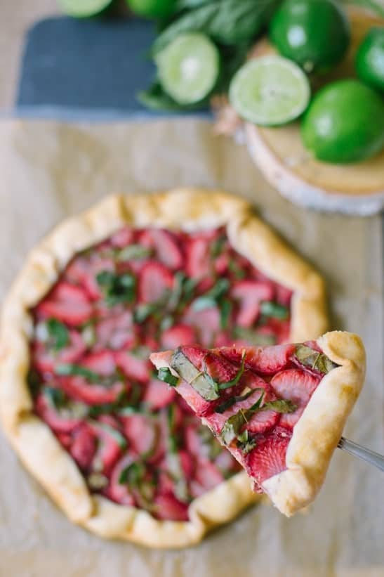 Strawberry Basil Galette - Sugar and Cloth