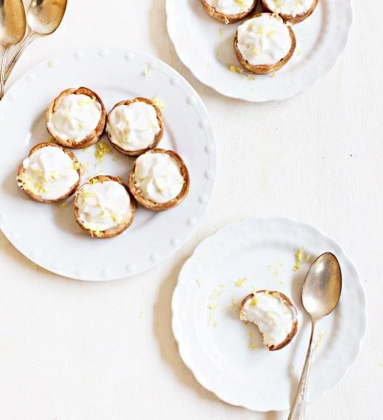 Mini Lemon Cheesecake Tarts - Sugar and Cloth