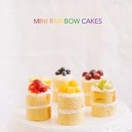 Mini Rainbow Cakes - sugar and cloth