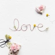 DIY Fresh Flower Love Sign - Sugar and Cloth