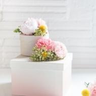 DIY Fresh Flower Gift Boxes - Sugar and Cloth