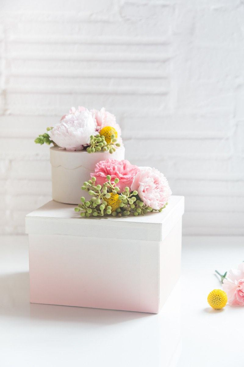 & DIY Fresh Flower Gift Boxes Aboutintivar.Com