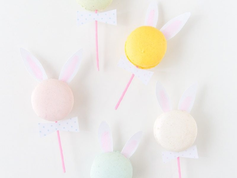 DIY Bunny Ear Macarons - Sugar and Cloth