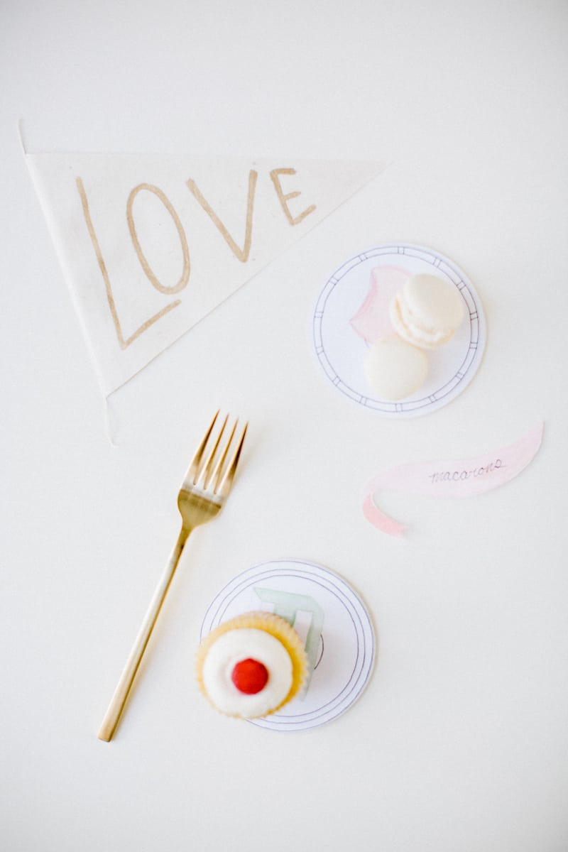 DIY printable dessert coasters | sugarandcloth.com