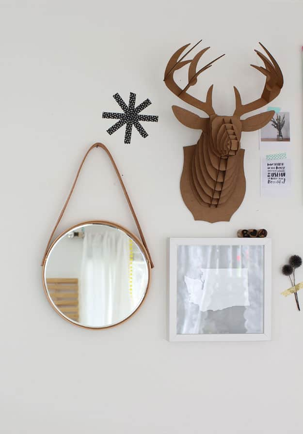 DIY hanging mirror | sugarandcloth.com