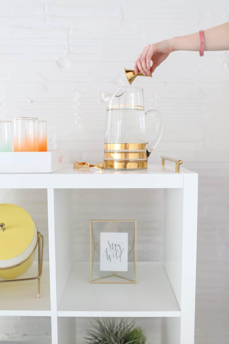 Diy Ikea Bar Cart Hack Sugar Cloth Diy Decor