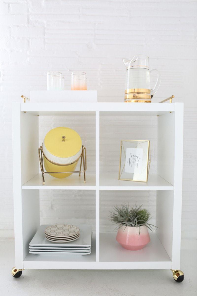 Ikea hack bar cart DIY - sugar and cloth