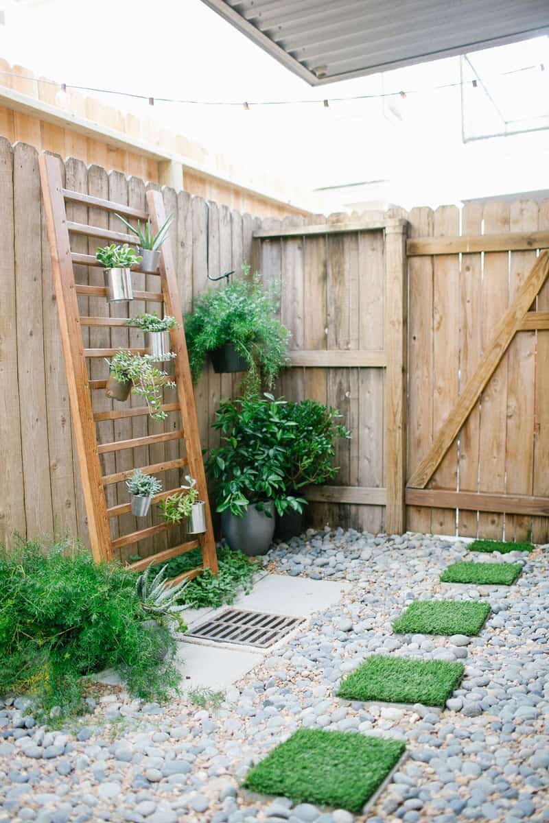 diy before after of my backyard with home depot