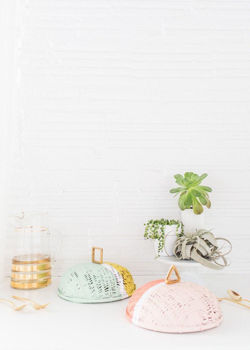 DIY Colorblock food domes - Sugar and Cloth