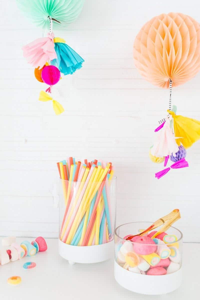 DIY Footed candy jars - Sugar and Cloth