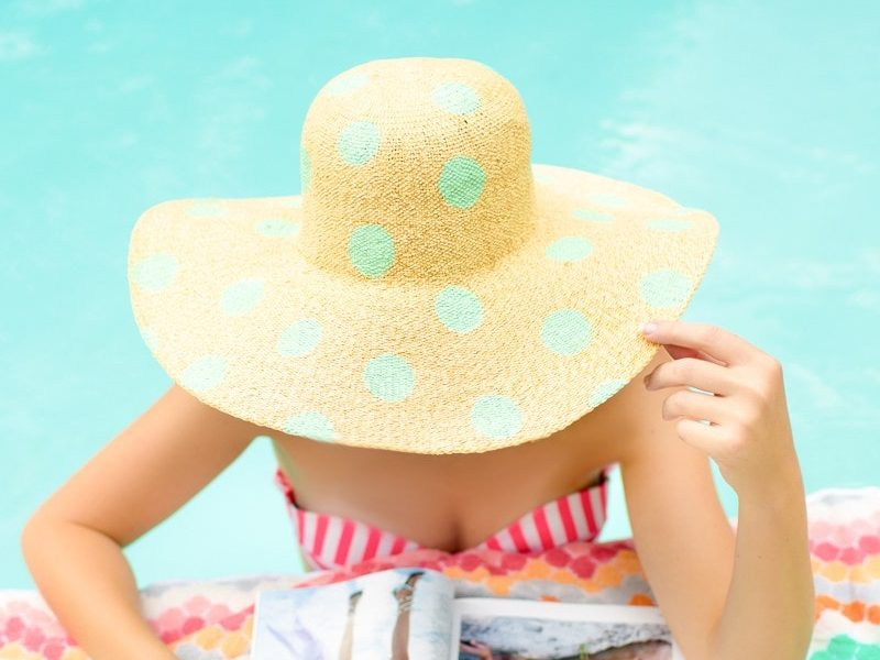 DIY Polka Dot Floppy Hat - Sugar and Cloth