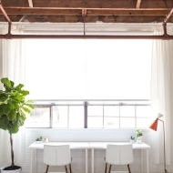 A peek of the new studio and the most excited I've ever been about window treatments - Sugar and Cloth
